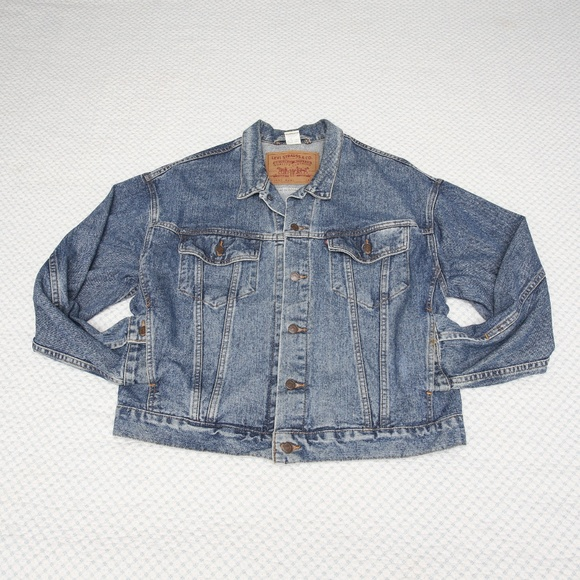 Vintage 80 90s LEVI'S Denim Trucker Jean Jacket